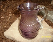 Vintage Pilgrim Glass Small Amethyst Pitcher