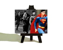 Clark to SUPERMAN - Awesome Miniature Canvas and Easel Set - The Perfect Gift - Limited Time Only