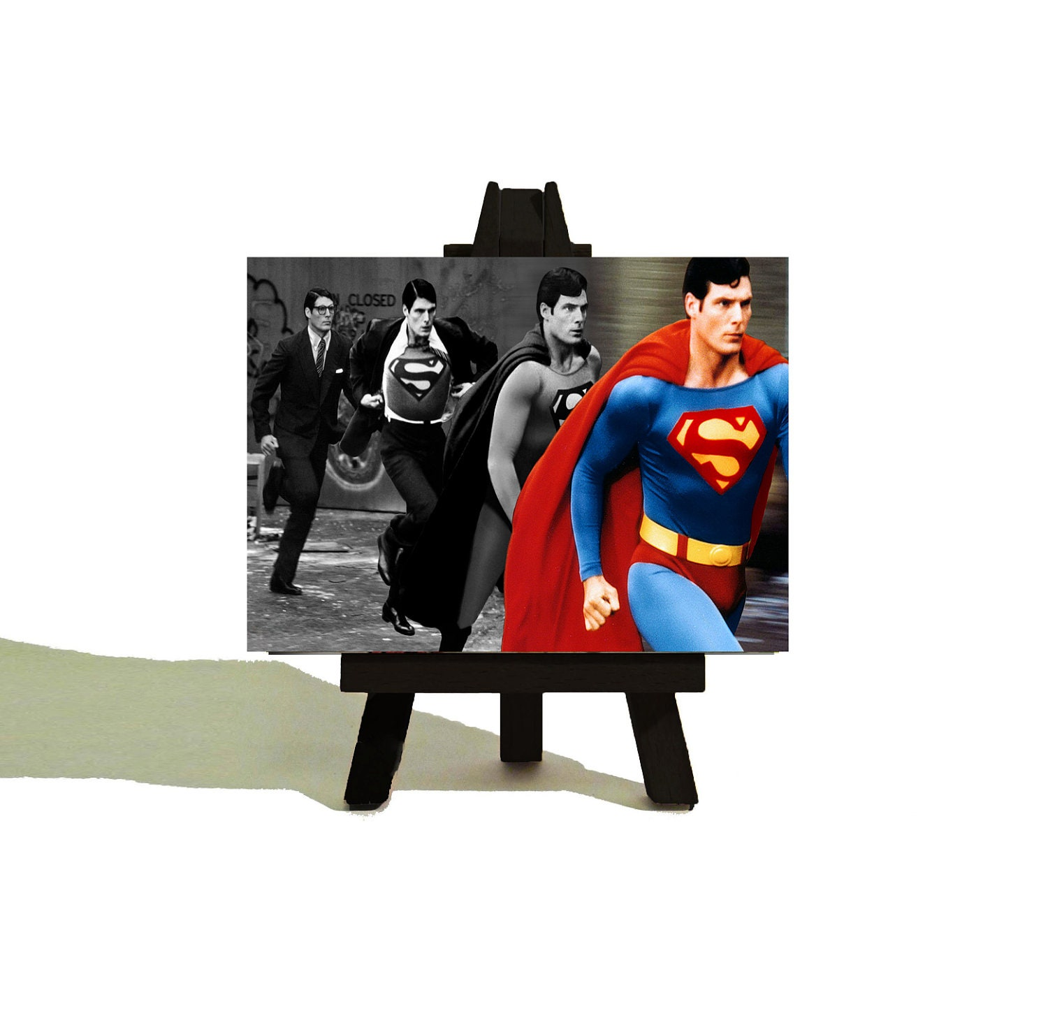 Clark To SUPERMAN Awesome Miniature Canvas And Easel Set