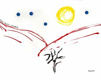 Sossusvlei moonlight - Namibia - quality paper - A3 ( 29.6 cm x 42 cm)