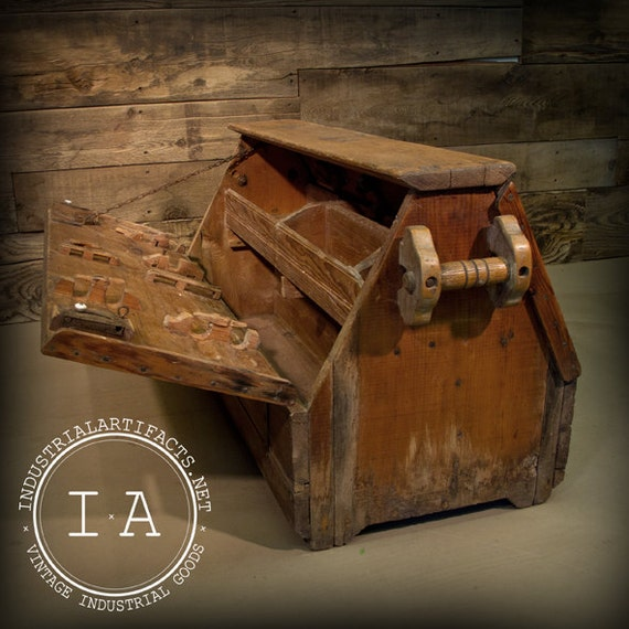 Vintage Industrial Carpenters Tool Box On Etsy