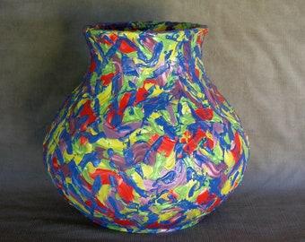 Artist's oil paint ware Vase.