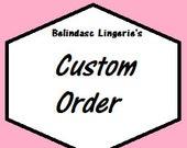 custom order listing for Belinadasc Lingerie