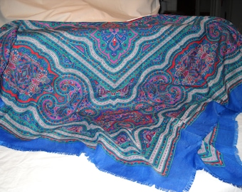 """Extra Large Vintage High Fashion Ladies """"Designer"""" Scarf/Shawl/Table Cover"""