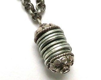 hardware necklace silver industrial necklace modern necklace washer necklace
