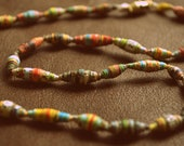 Necklace with Hand-Rolled Paper Beads