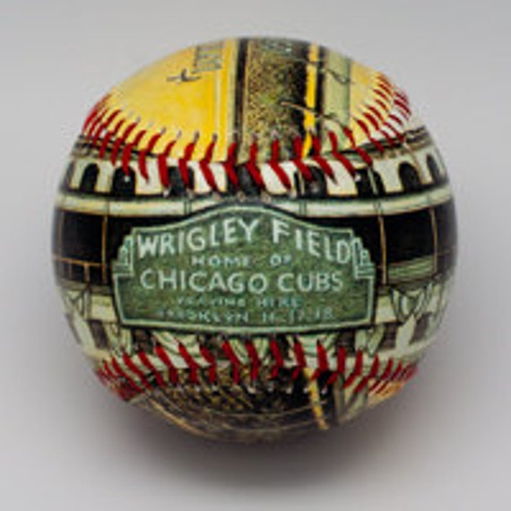 Wedding Gifts Chicago: Wrigley Field Opening Day Baseball Wrigley Fan Gift Chicago