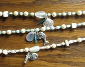 Beachy Anklet with Charms