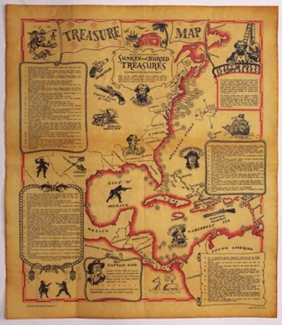 Genuine TREASURE MAP on Parchment Paper