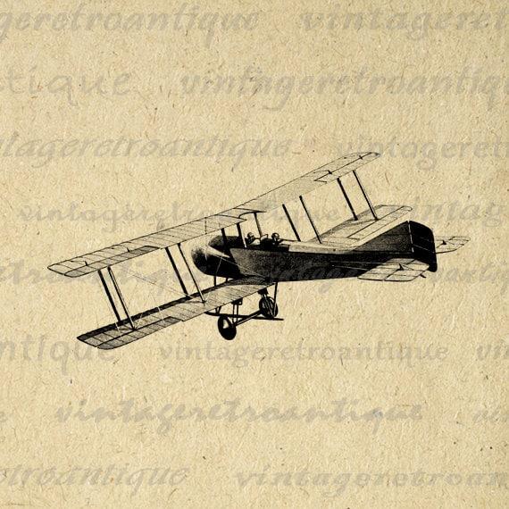 Digital Image Antique Airplane Graphic by VintageRetroAntique