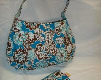 Handmade cute big  Buttercup bag and matching coin purse