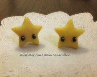 Sale-Nintendo Mario Star Earrings