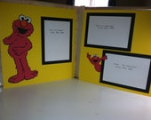 Elmo Pre Made 2 Page Scrapbook Layout