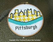 Modern Pittsburgh Skyline Cross Stitch -- PDF PATTERN ONLY