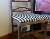 RARE Vintage, Chic Recovered Antique Wooden FOLDING Chair