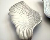 Angel Wings Wall Art - Hermes Ceramic Porcelain Angel Wings. Porcelain Bird Wings As Wall Plaques or tabletop decor. Angel Wing Wall Decor