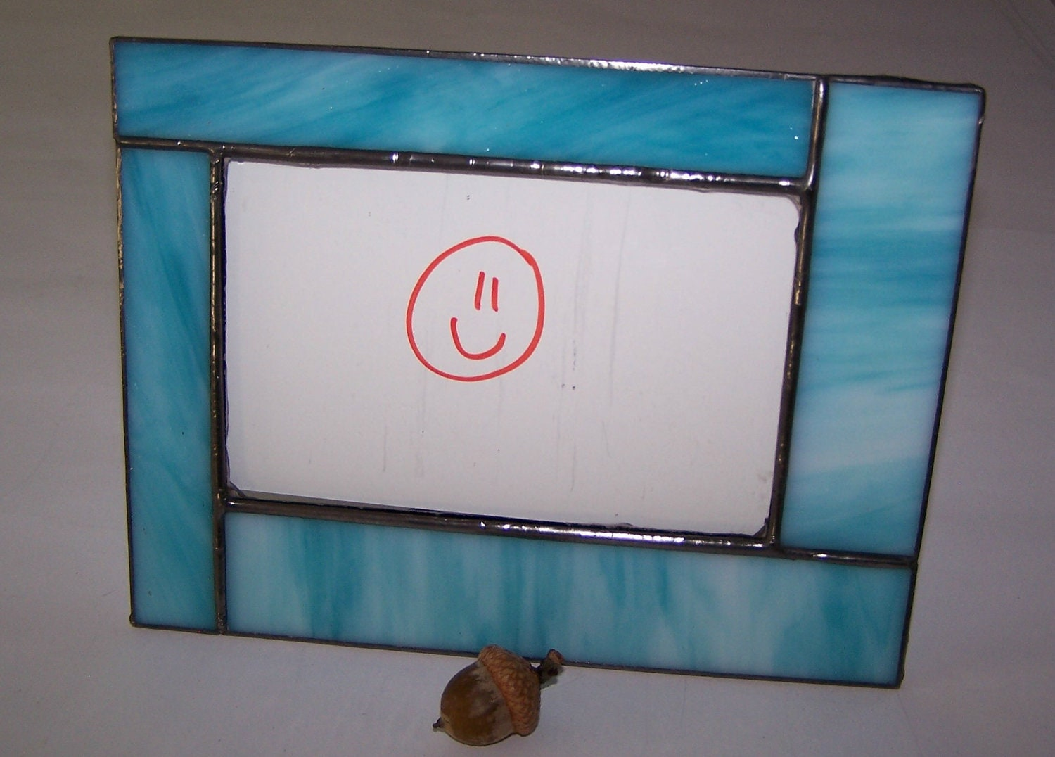 stained glass photo frame blue glass gifts 20 picture