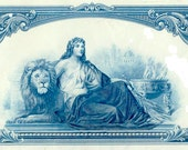3 Stock Certificates - Gorgeous Details - Use as Giftwrap or in a Collage