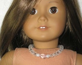 "American Girl or 18"" Doll Necklace - faux crystal"