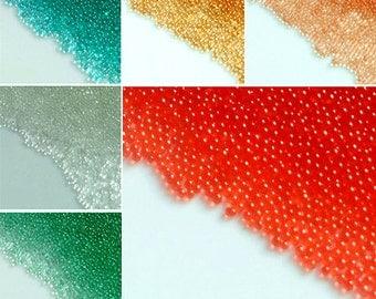 12x 3D Multi Color Caviar Manicure Pedicure Micro Tiny Nail Art Sticker Beads Set translucent