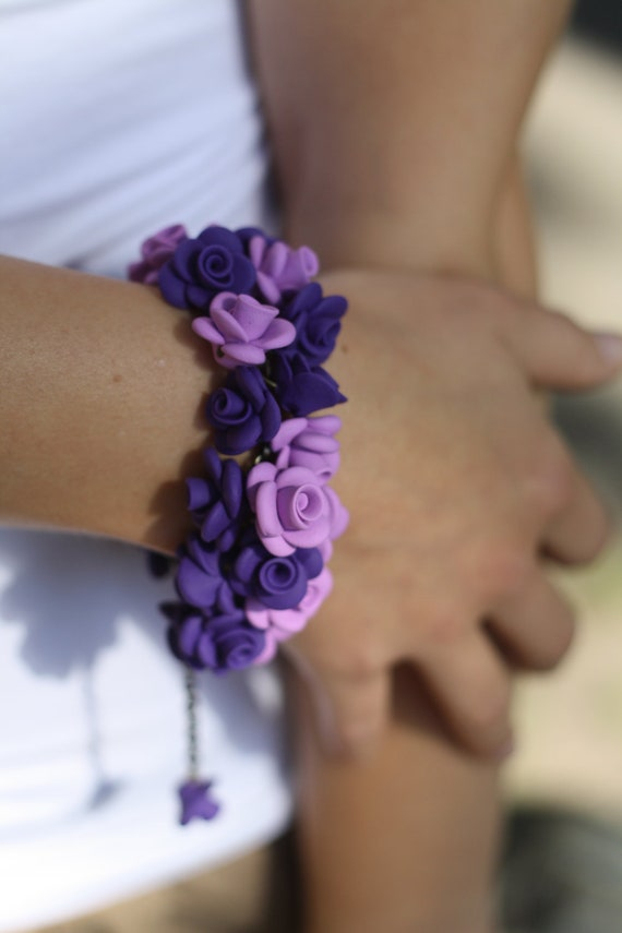 late afternoon (wild lilac rose bracelet)