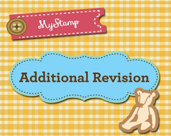 ADDITIONAL REVISION of your stamp order