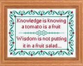Knowledge and Wisdom Traditional Sampler, Cross Stitch PDF Pattern