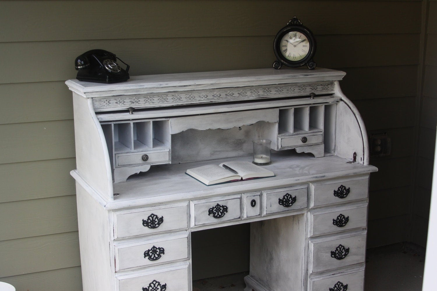 Beautiful Shabby Chic Roll Top Desk