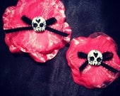 Custom momma and daughter flower clips
