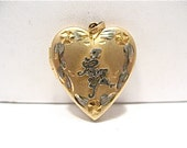 Vintage 14k Gold Filled Locket I Love You Heart 18 x 22 mm 3.2 grams    #118