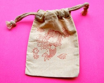 Mermaid Birthday Party Favor Bag / Set of 10 / Under the Sea Party