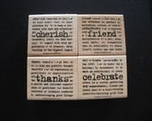 Stampin' Up Lexicon of Love Rubber Stamp Set. (Retired)  New