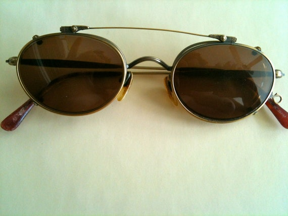 Vintage Matsuda glasses and clip on sunglasses