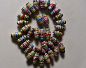 Lovely hand made paper beads -35 pcs