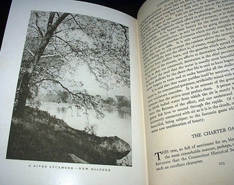 Wallace Nutting Author Connecticut Beautiful 1935 Vintage Travel Log Book 304 Illustrated Black and White Plates Vintage Book to Read