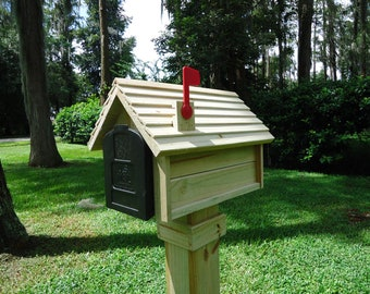 Handcrafted bevel sided mailbox