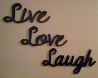 Popular items for live laugh love on Etsy