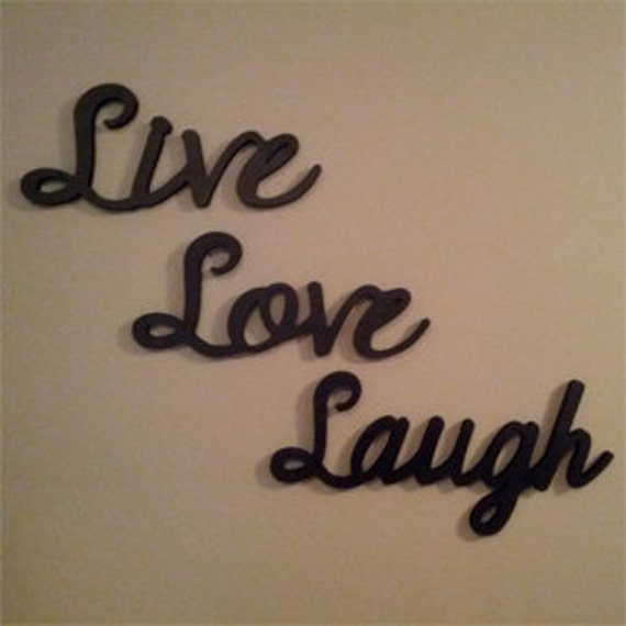 ... Live Laugh Love Wooden Wall Words And Home By LettersbyLeslie
