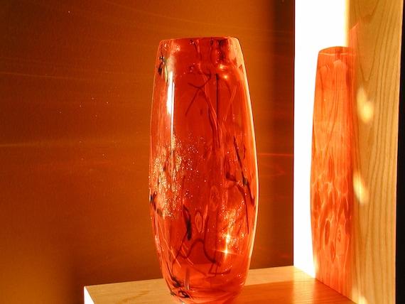 Murano Crimson Red Vase