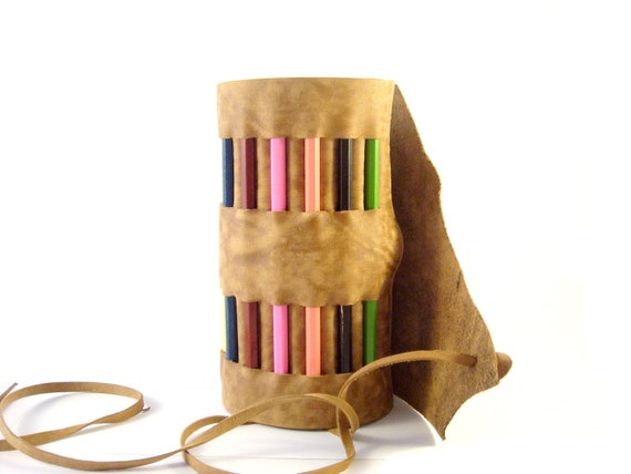 Leather Pencil Roll Holder and nice gifts