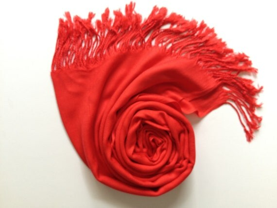 RED PASHMINA, red shawl, pashmina shawl, pashmina scarf, scarf, shawl, scarves