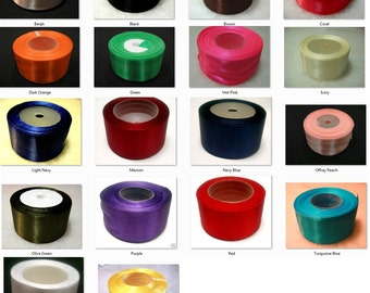 "1 meter X  38mm or 1.5"" Wide Satin Ribbons Pick Your Colors