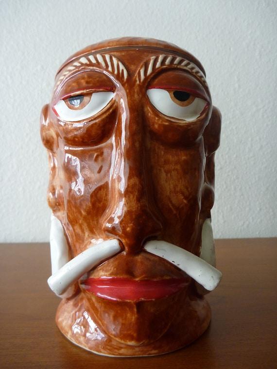 Mr. Bali Hai Ceramic Vintage Headhunter Mascot Tiki Bar Head Mug San Diego