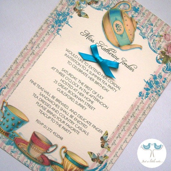 Stay At Home Tea Invitation Wording | Party Invitations Ideas