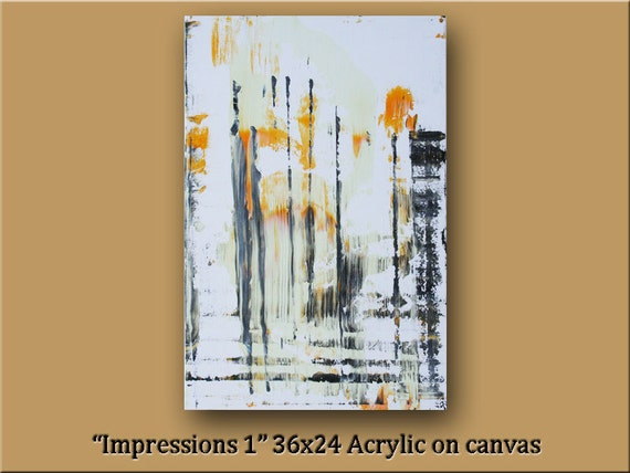 Modern Abstract Art 36x24 Gallery wrap canvas by WilliamPaints