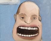 Lowbrow Portrait - Big Mouth - Original Oil