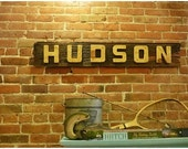 Barnwood and plywood Hudson River Sign