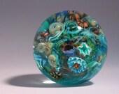 Coral Reef Venetian Glass Miniature Paperweight
