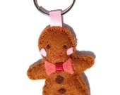 Felt Gingerbread Keychain