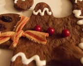 Primitive,  Christmas, Freshly Baked Non Edible,  Gingerbread Men...Set of Three...All Cute n Grungy Good!
